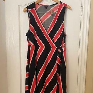 Torrid Striped Pink & Black Dress